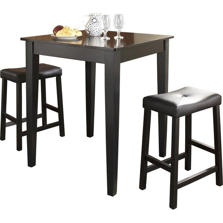 Bistro Bar Table Set 187 Trent Design Bezons 3 Pub Table Set  : Crosley 3 Piece Pub Table Set KD320008BK from abacs.us size 719 x 719 jpeg 64kB