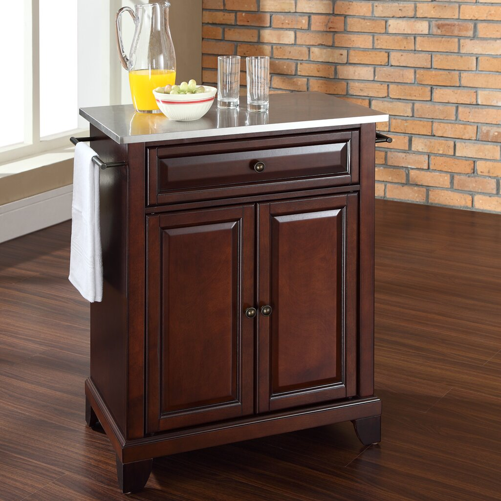 kitchen islands with stainless steel tops crosley lafayette kitchen cart with stainless steel top 9476