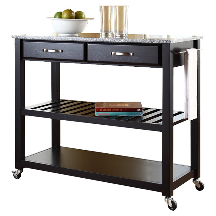 Best Rated King Mattress Crosley Kitchen Island with Granite Top & Reviews | Wayfair
