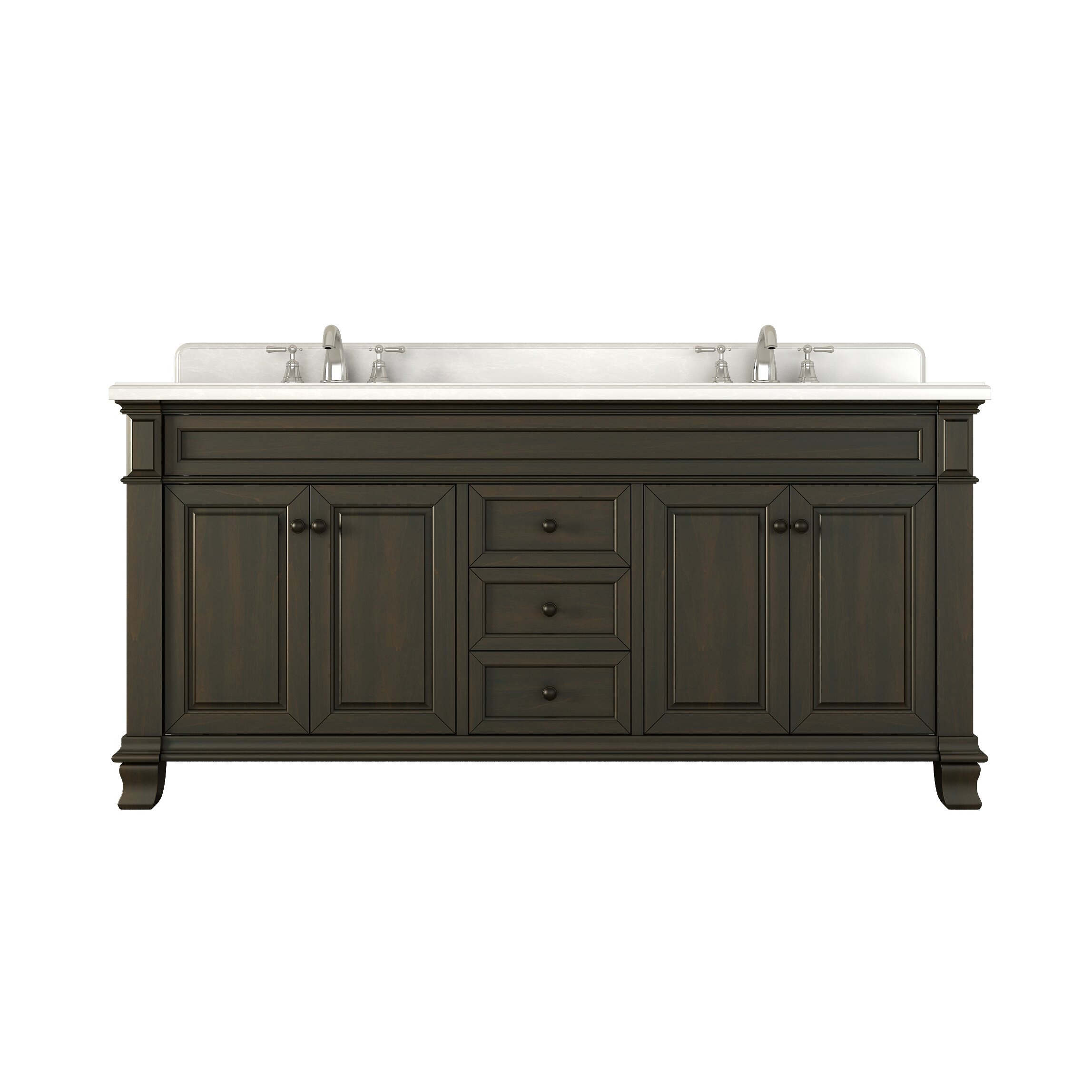 Lanza kingsley 72 double bathroom vanity set reviews for Bathroom 72 double vanity