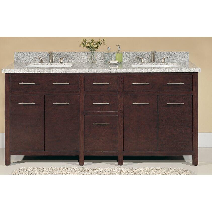 mission style 72 inch medium pecan double sink bathroom vanity free