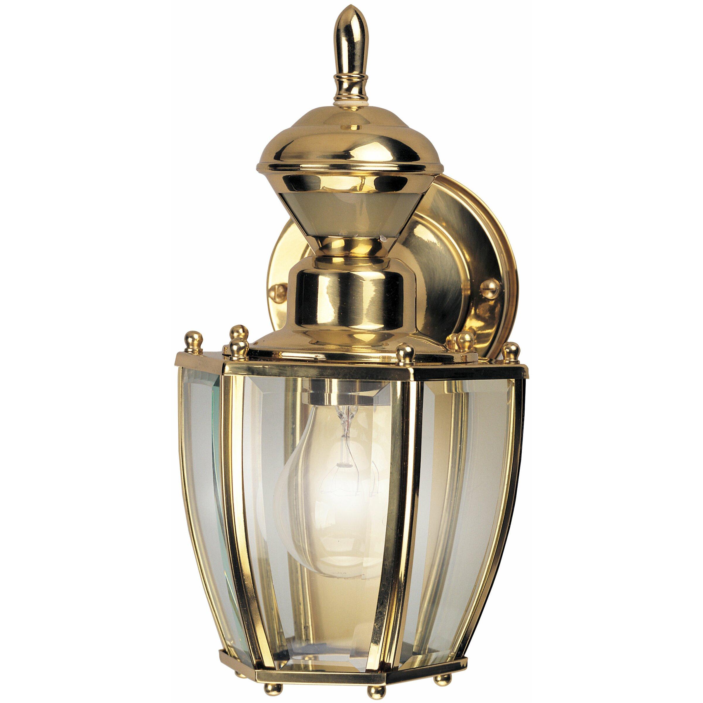 Wall Lamp Lantern : Heath-Zenith Coach 1 Light Outdoor Wall Lantern & Reviews Wayfair
