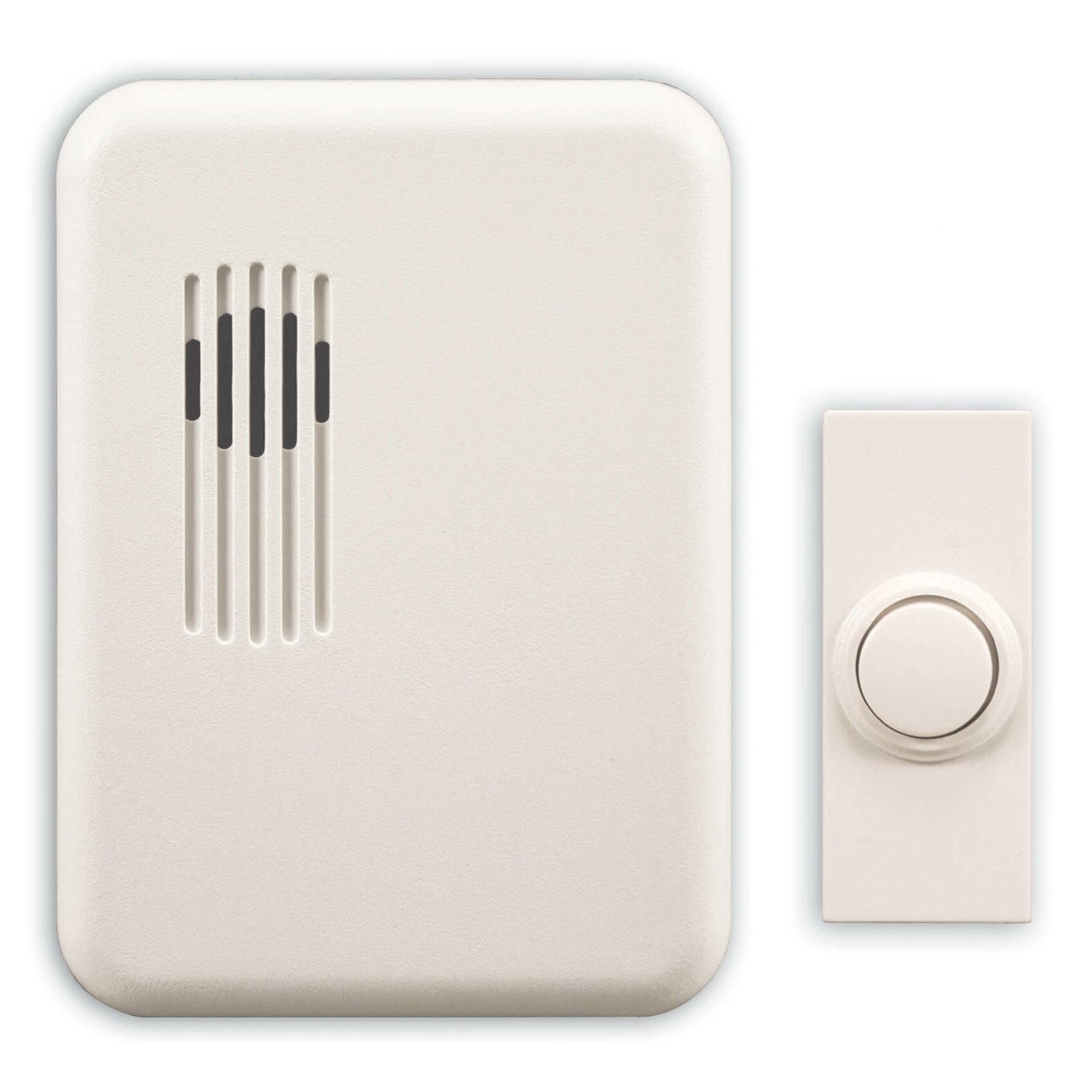 Heath zenith wireless plug in door chime kit with one plug for 1 by one door chime