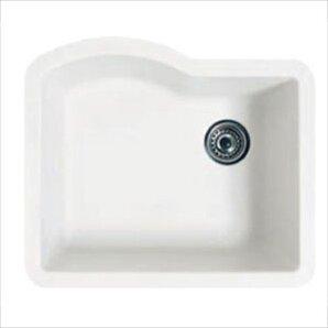 Swanstone swanstone classics 24 x 21 single bowl kitchen for Swanstone undermount sinks