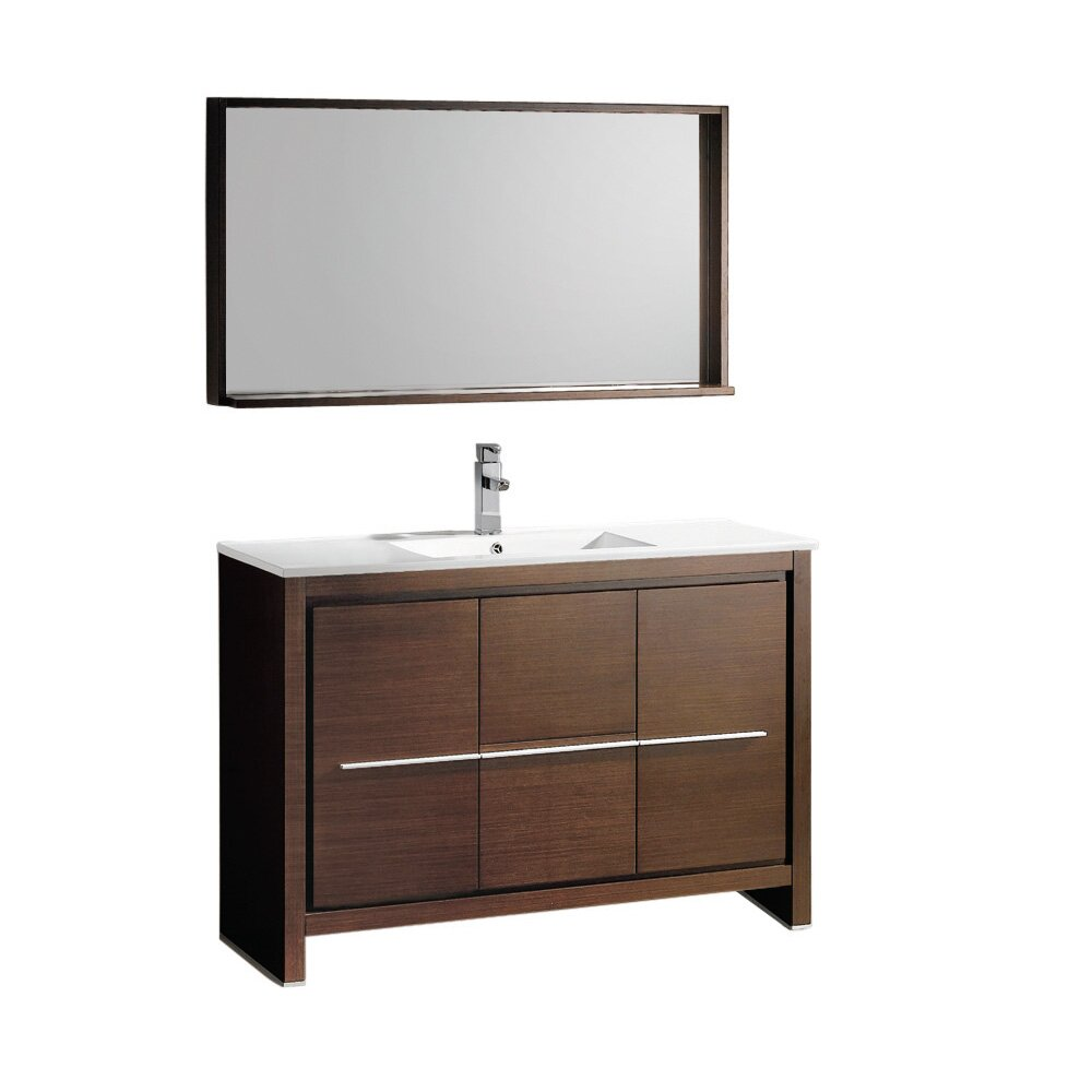 Fresca Allier 48 Single Modern Bathroom Vanity Set With Mirror Reviews Wayfair Supply