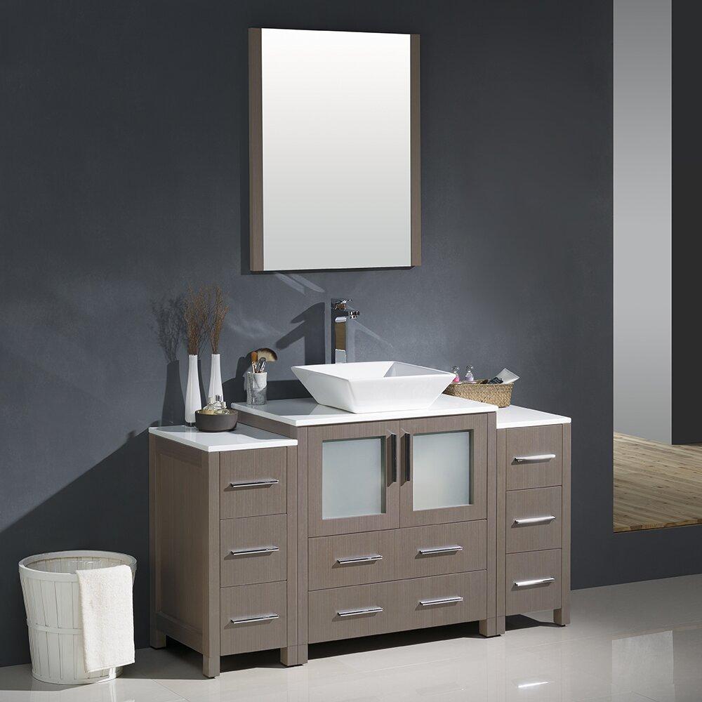 "Fresca Torino 54"" Single Modern Bathroom Vanity Set with ..."