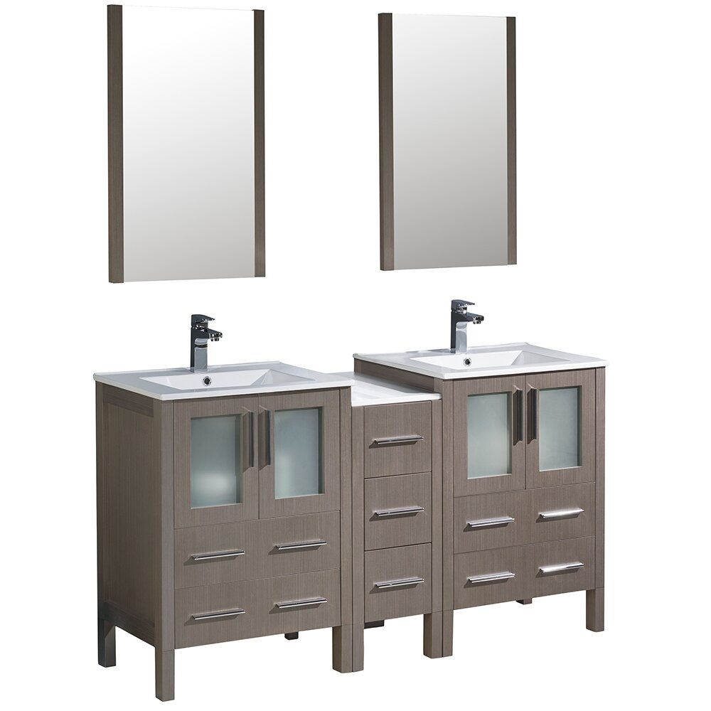 Fresca Torino 60 Double Modern Bathroom Vanity Set With Mirror Wayfair
