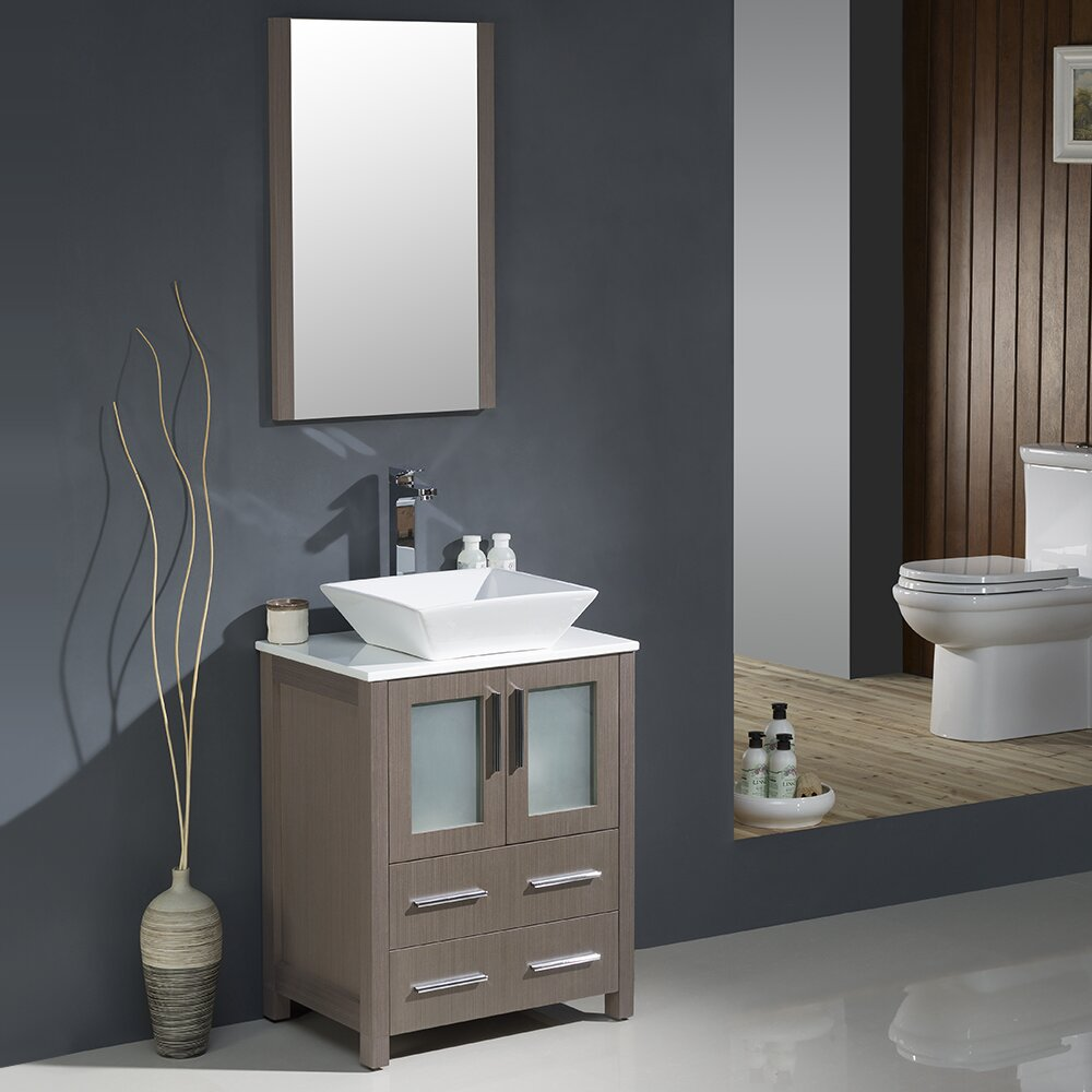fresca torino 24 quot single modern bathroom vanity set with 23819