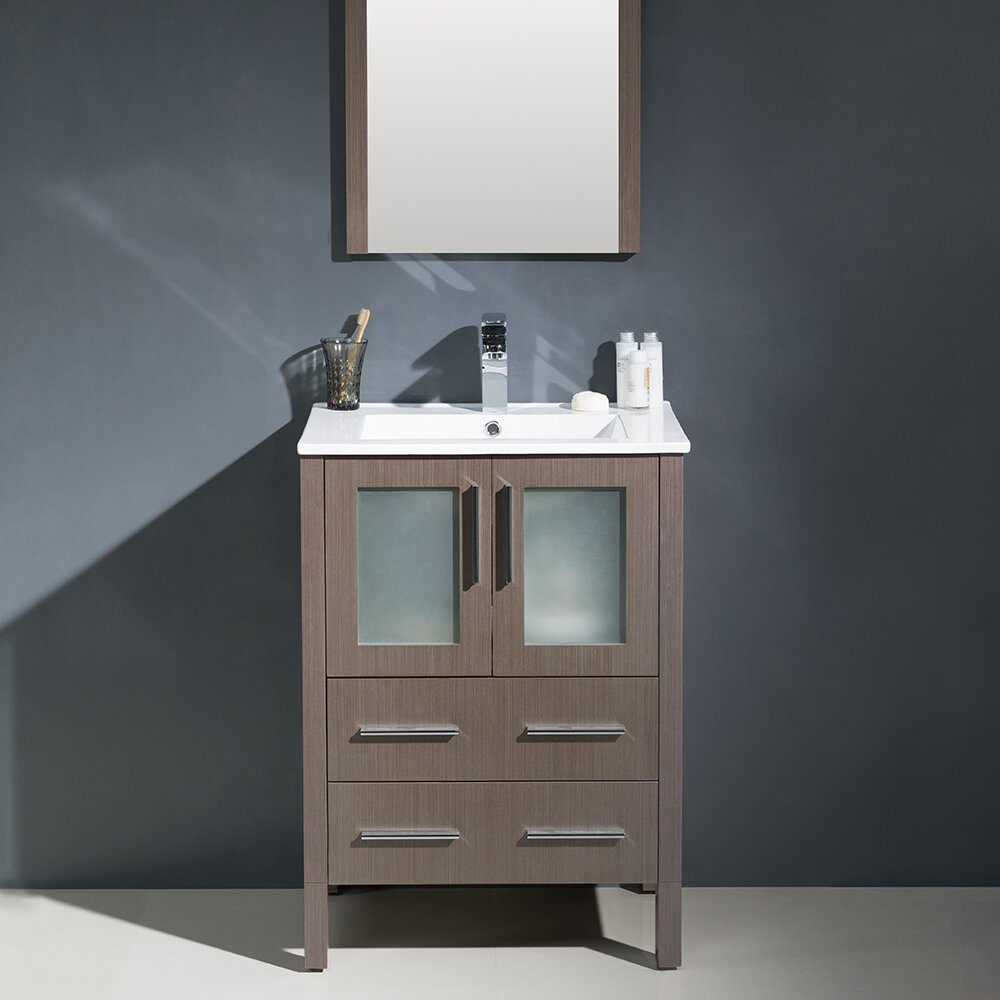 modern bathroom vanity mirror fresca torino 24 quot single modern bathroom vanity set with 19601