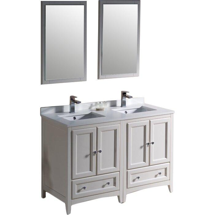 Fresca Oxford 48 Quot Double Traditional Bathroom Vanity Set