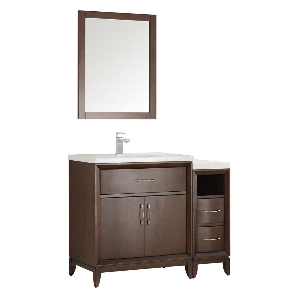 Fresca cambridge 42 single traditional bathroom vanity for Bathroom mirror set