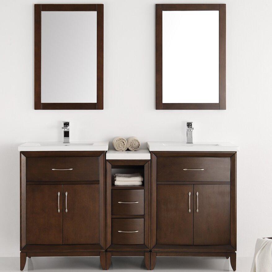 Fresca Cambridge 58 Double Bathroom Vanity Set With Mirror Wayfair