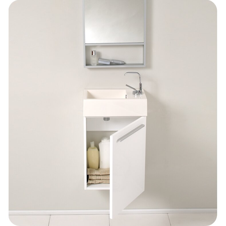 fresca senza 16 single pulito small modern bathroom