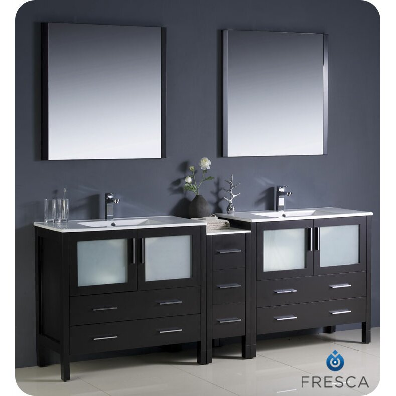 84 bathroom vanity double sink fresca torino 84 quot modern bathroom vanity set with 21884
