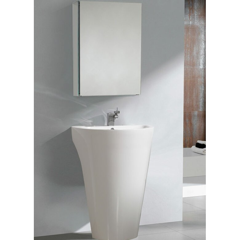 fresca parma 23 single pedestal modern bathroom vanity