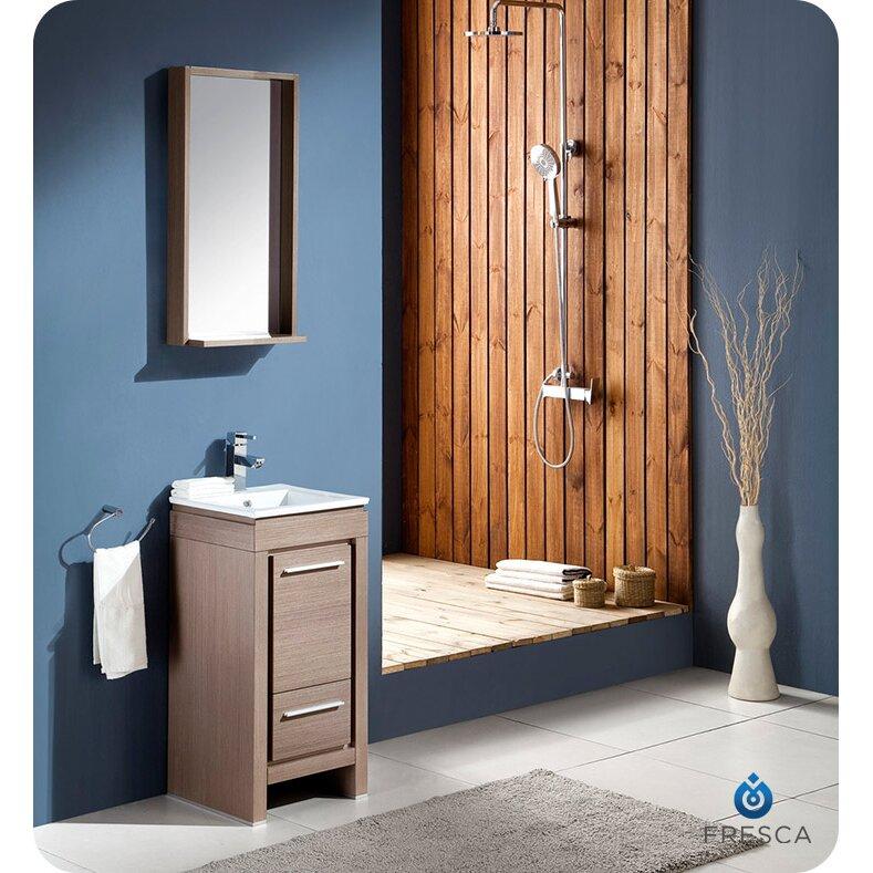 Fresca allier 16 single small modern bathroom vanity set How to set up a small bathroom