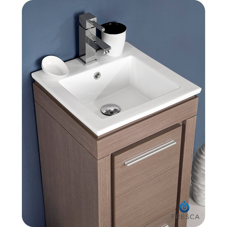 fresca allier 16 single small modern bathroom vanity set