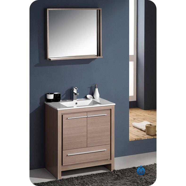 Fresca allier 30 single modern bathroom vanity set with for Levi 29 5 single modern bathroom vanity set