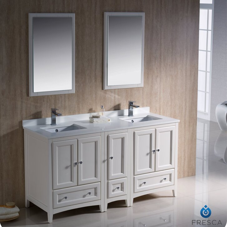 Fresca Oxford 60 Quot Double Traditional Bathroom Vanity Set