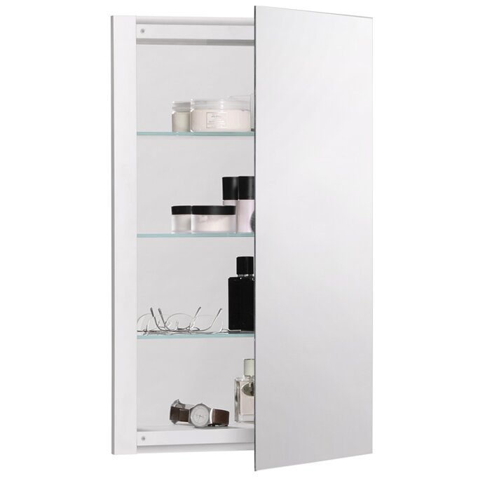 Robern R3 Series 16 X 26 Recessed Flat Medicine Cabinet