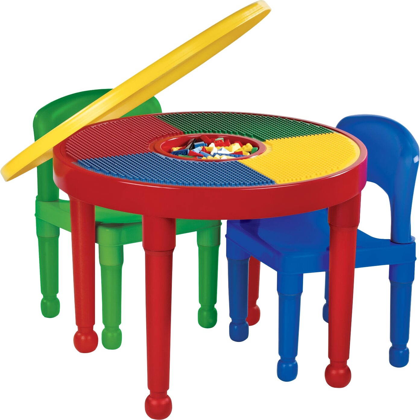 Tot Tutors 4 Piece Round Activity Table Amp Chair Set