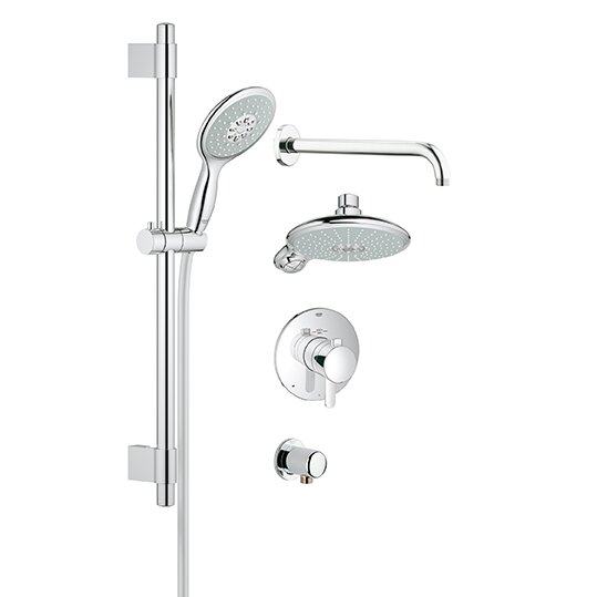 Grohe GrohFlex Thermostatic Tub And Shower Faucet Reviews Wayfair