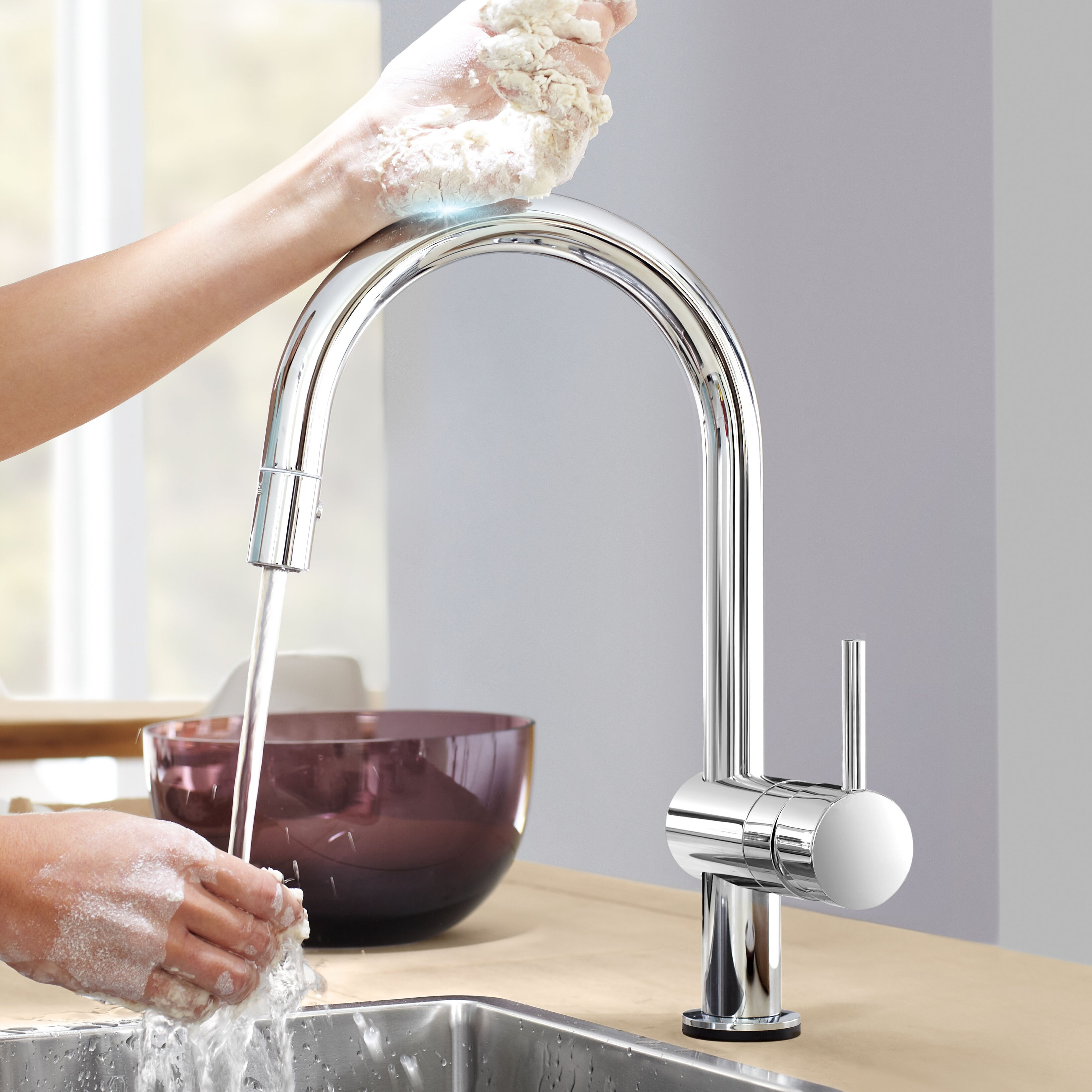 touch kitchen faucets grohe minta touchless single handle single hole standard kitchen faucet with touch control 1169