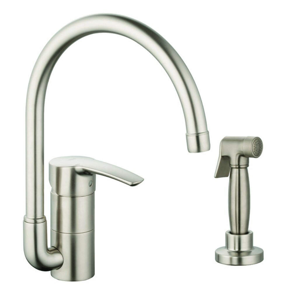 Grohe eurostyle single handle single hole standard kitchen for Grohe faucets