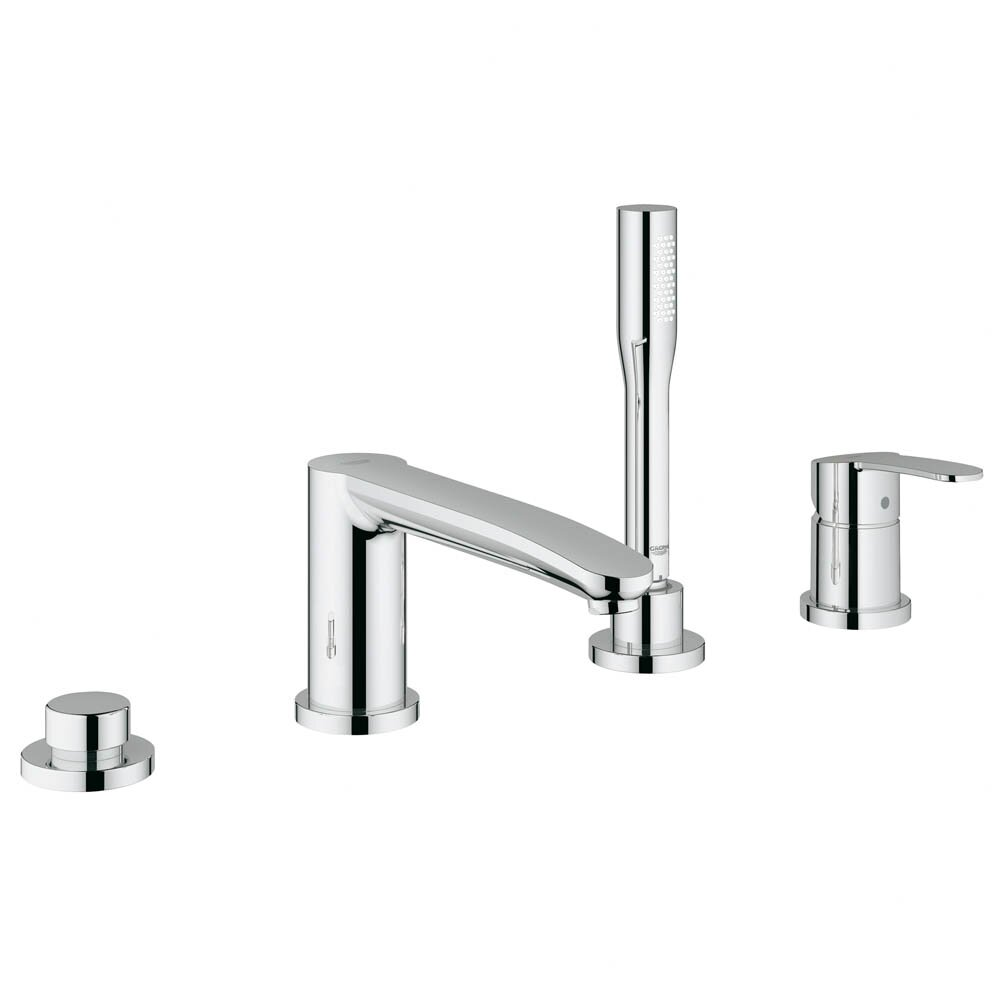 Grohe Eurostyle Two Handle Deck Mounted Roman Tub Faucet With Hand Shower Am