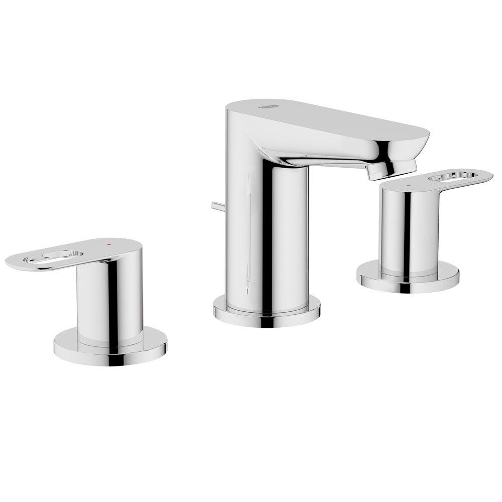 Grohe BauLoop Double Handle Widespread Bathroom Faucet Reviews Wayfair