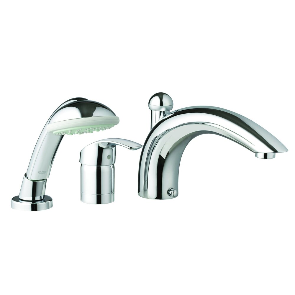 Grohe Eurosmart Single Handle Deck Mounted Roman Tub Faucet With Hand Shower