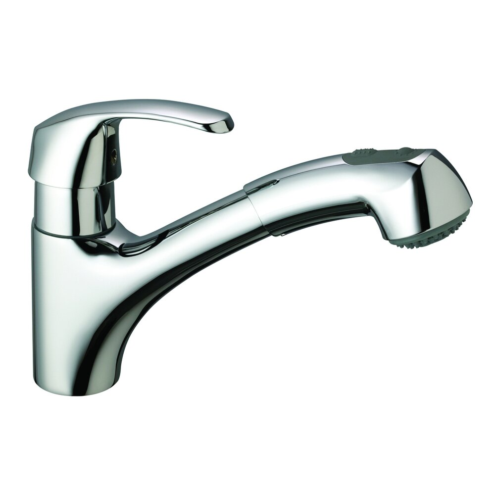 single hole kitchen faucet with sprayer grohe alira single handle single standard kitchen 27462