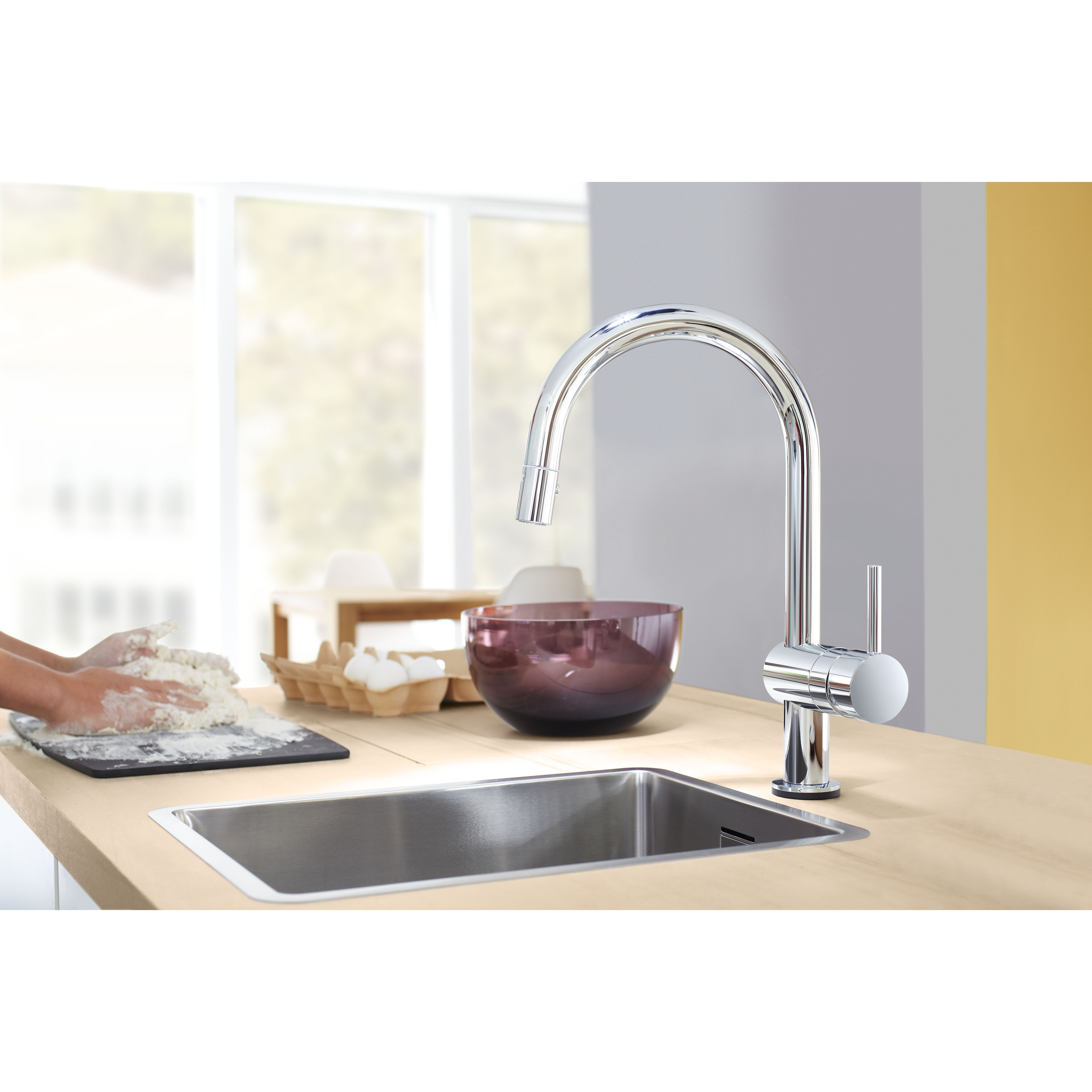 grohe minta touch single handle single hole standard kitchen faucet with touch control reviews. Black Bedroom Furniture Sets. Home Design Ideas