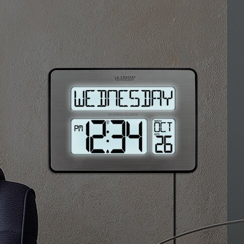 La Crosse Technology Atomic Full Calendar Clock With Extra