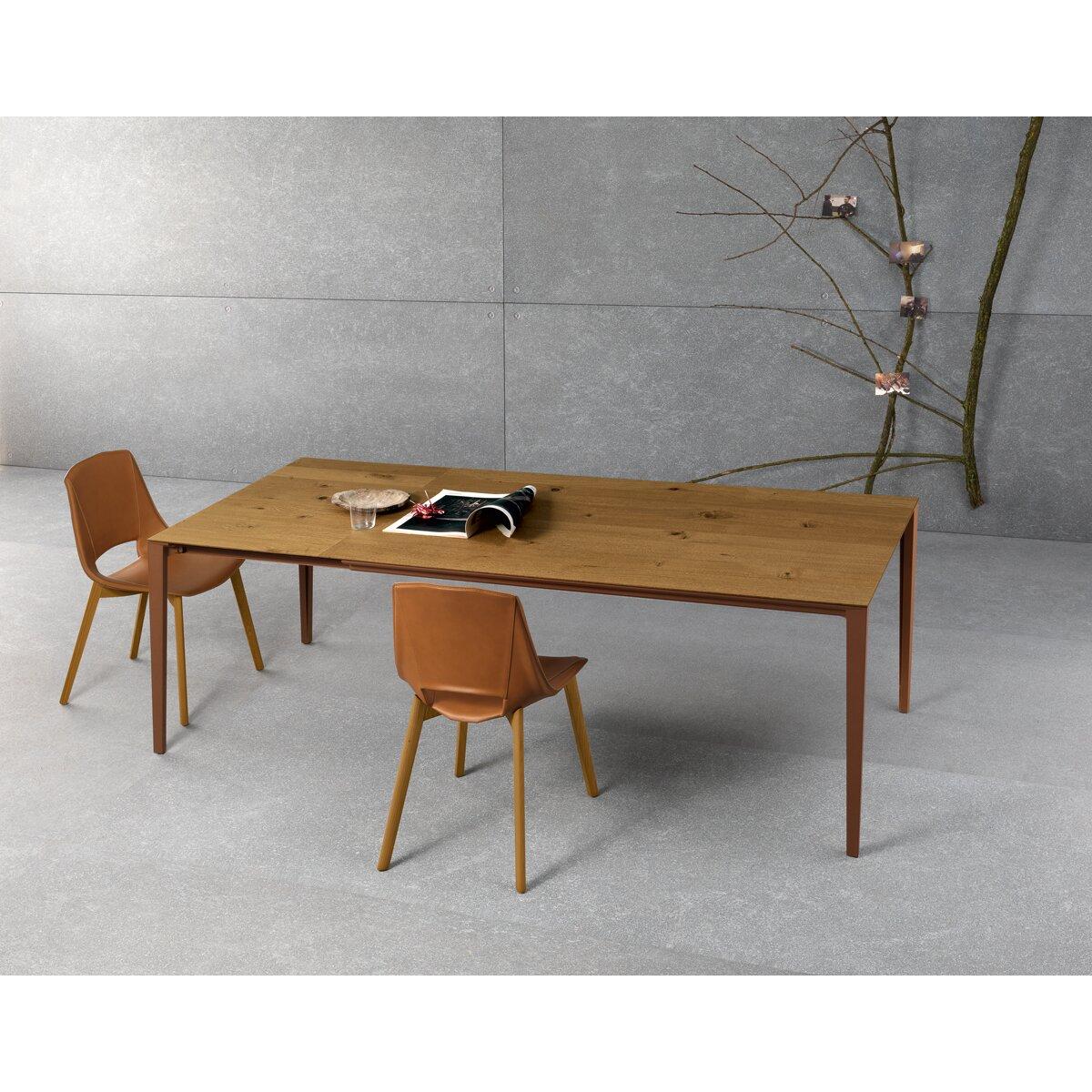 YumanMod Zen Extendable Dining Table Wayfair : ZEN 160 Top Oak Veneered and Legs and Structure Brown Finish SDP010805 from www.wayfair.com size 1200 x 1200 jpeg 324kB