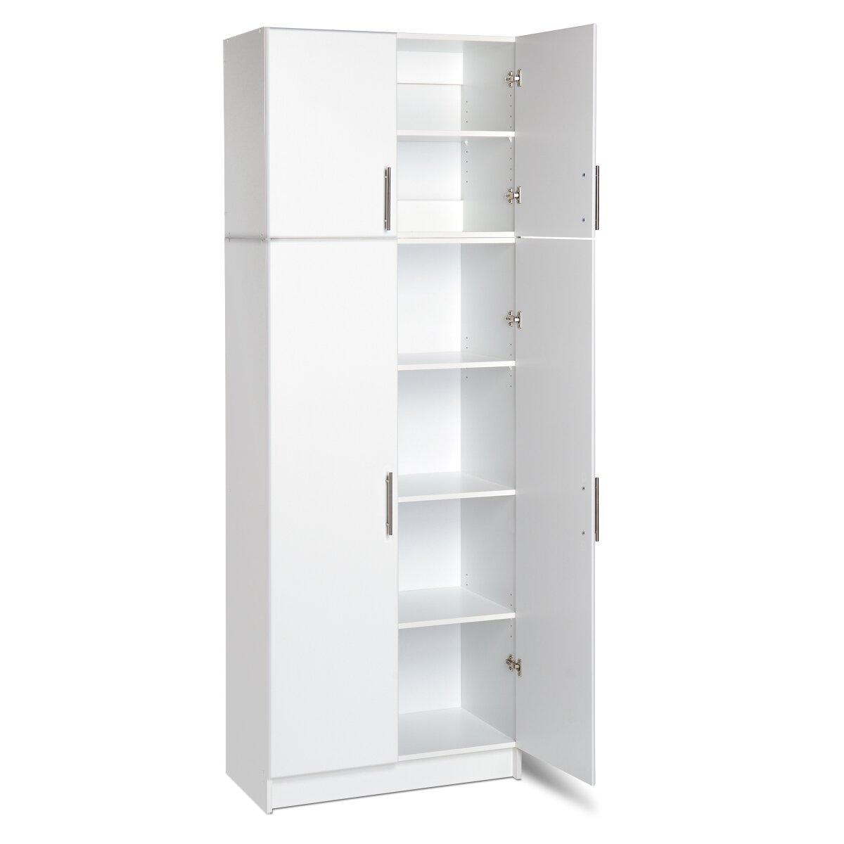 Prepac Elite Storage 65 Quot H X 32 Quot W X 16 Quot D White Storage