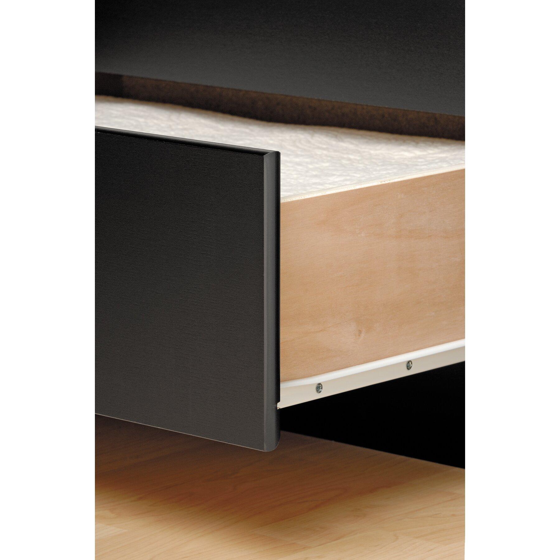 6 drawer platform storage bed full double espresso prepac