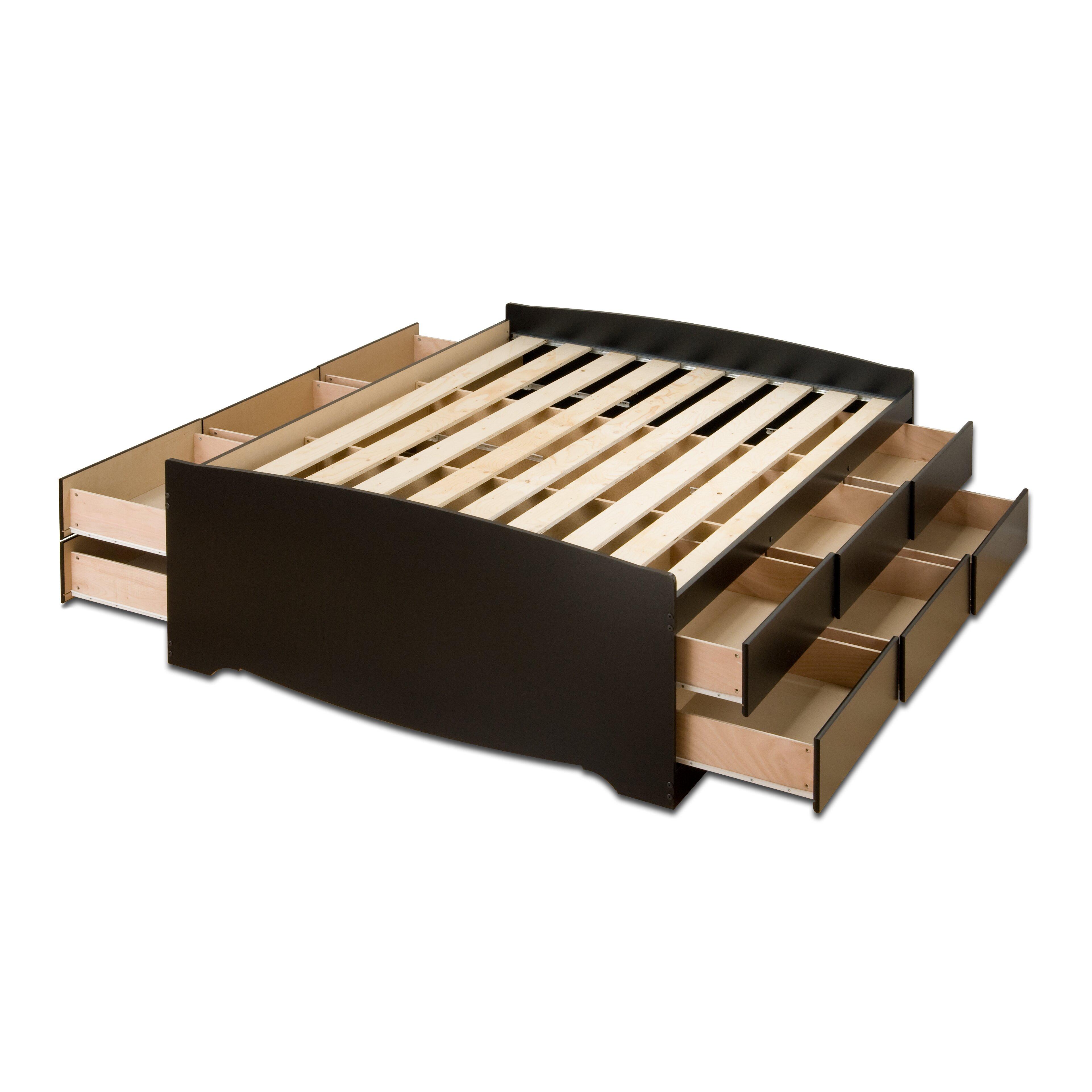 prepac storage platform bed reviews wayfair. Black Bedroom Furniture Sets. Home Design Ideas