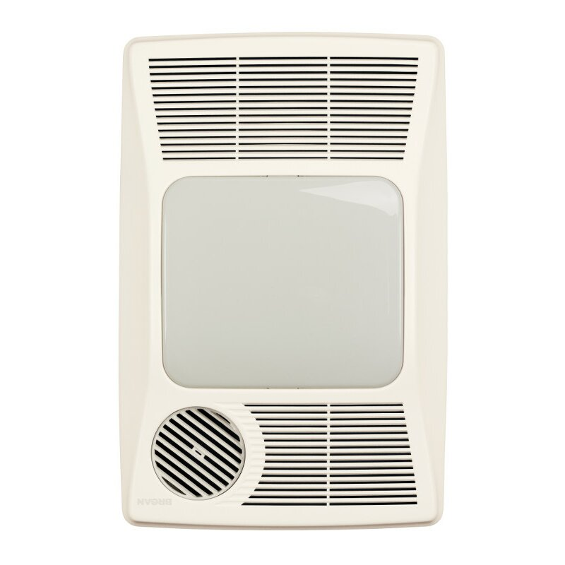broan 100 cfm bathroom fan with heater and light reviews wayfair