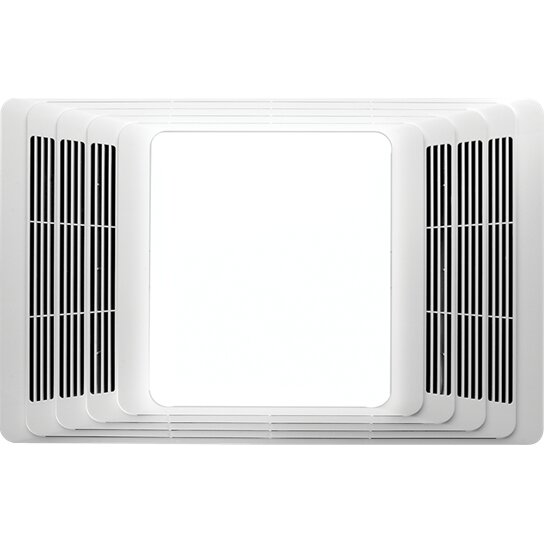 Bathroom Fans With Heaters: Broan 50 CFM Bathroom Fan And Heater With Light & Reviews