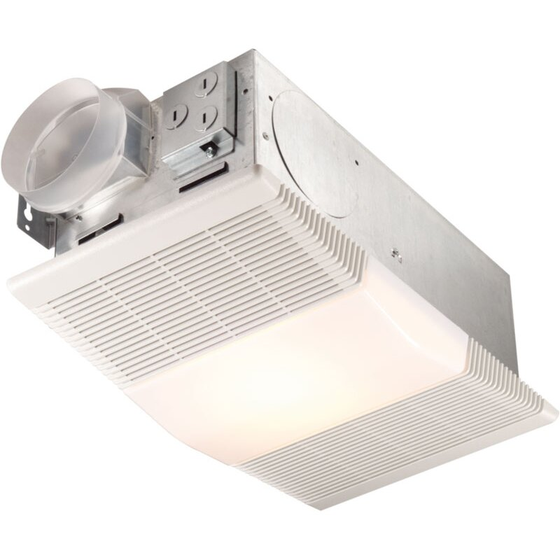 Broan 70 CFM Ceiling Exhaust Fan With Heater And Light