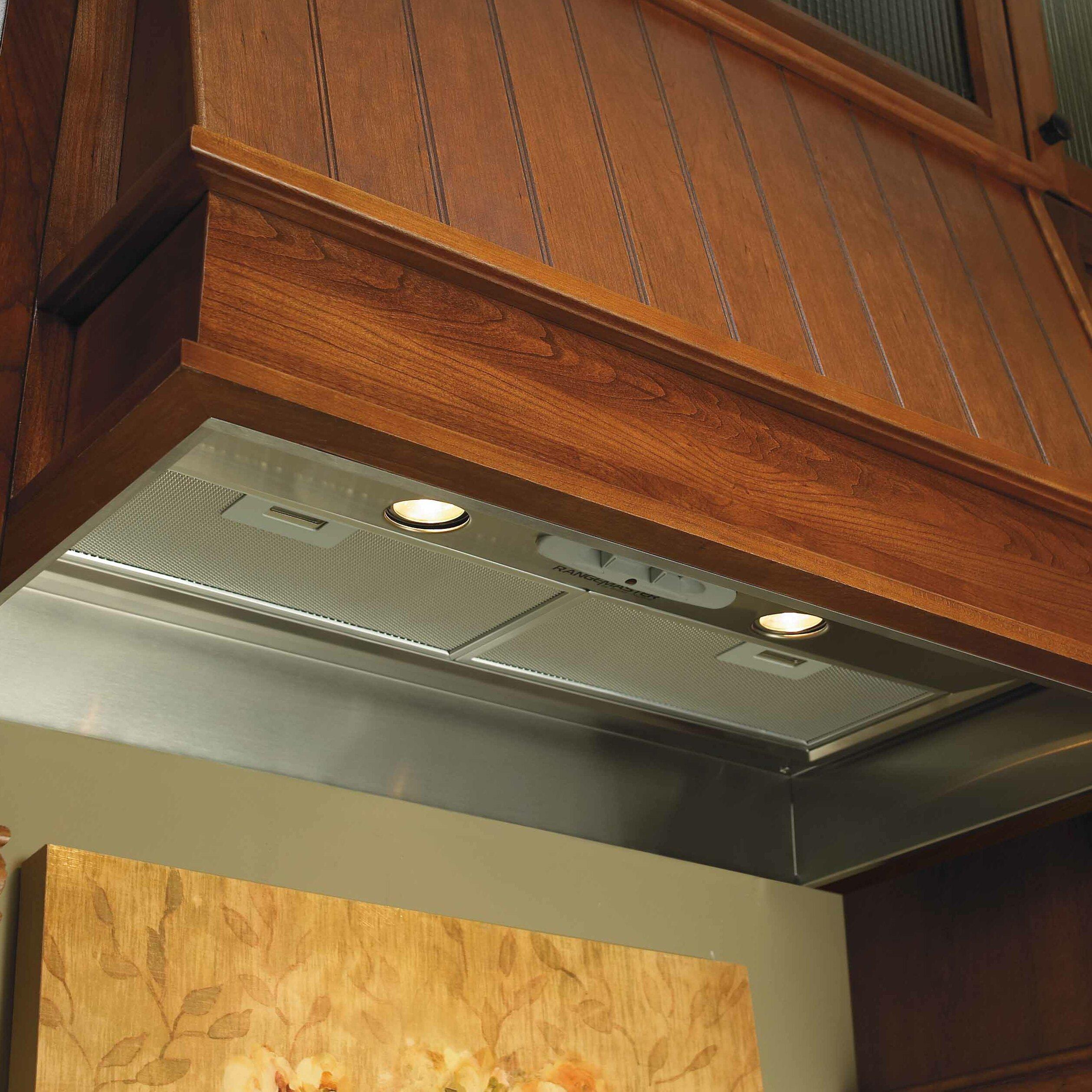 Broan elite range hood custom power pack filter wayfair for Broan vent a hood