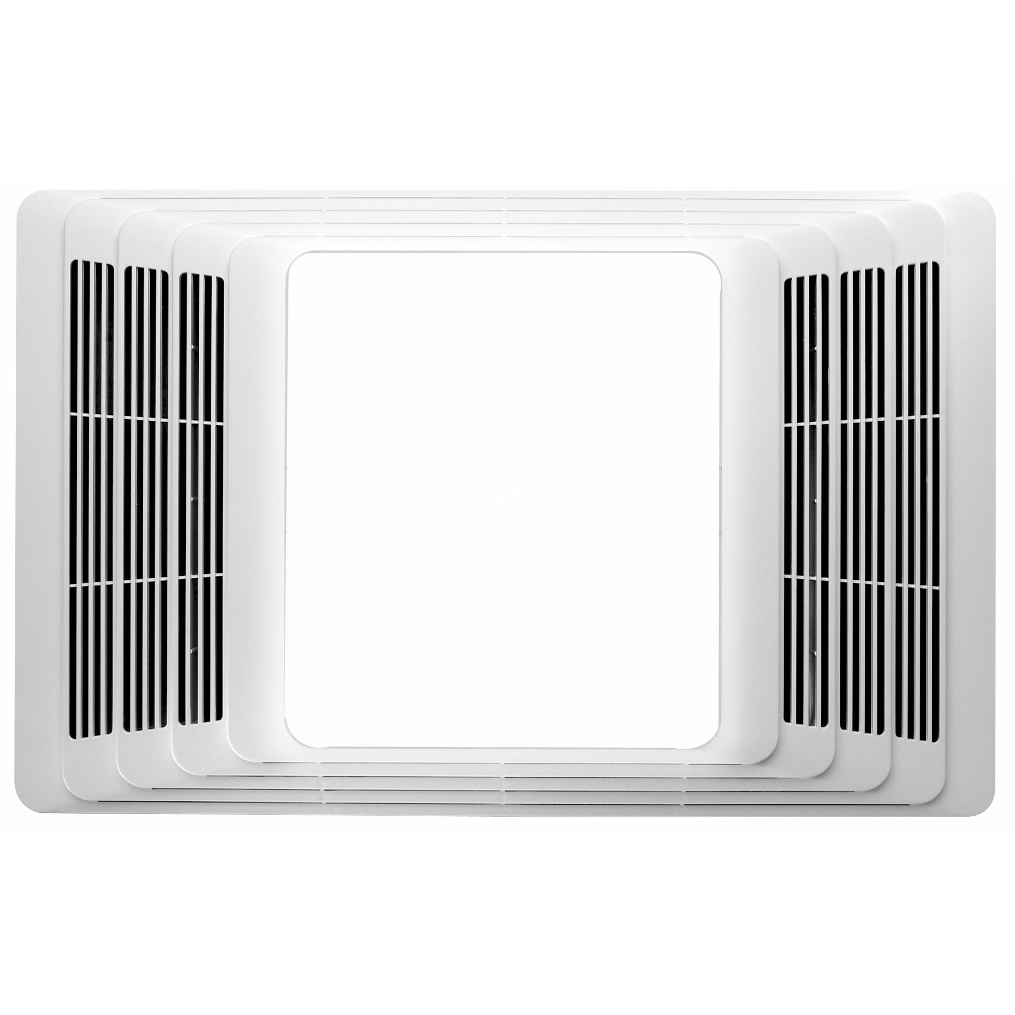 Broan 70 cfm bathroom fan and heater with light reviews wayfair for Best bathroom fan light reviews