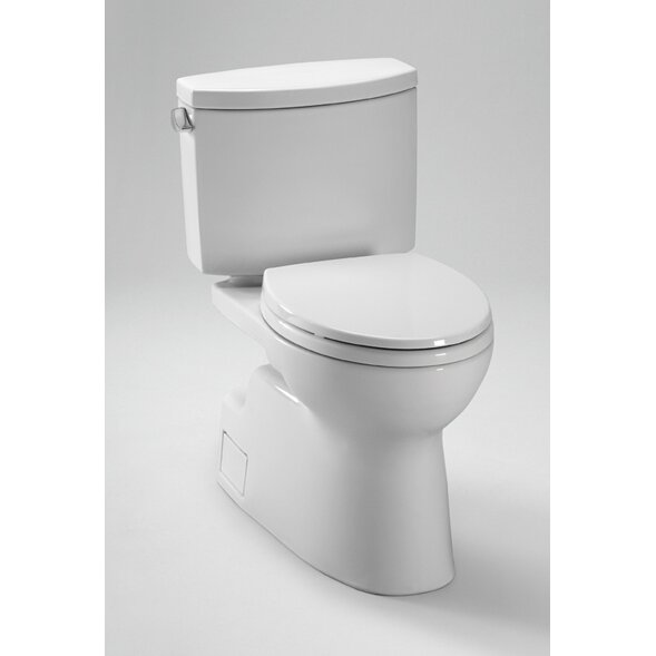 Toto Vespin II High Efficiency 1.28 GPF Elongated 2 Piece Toilet with ...