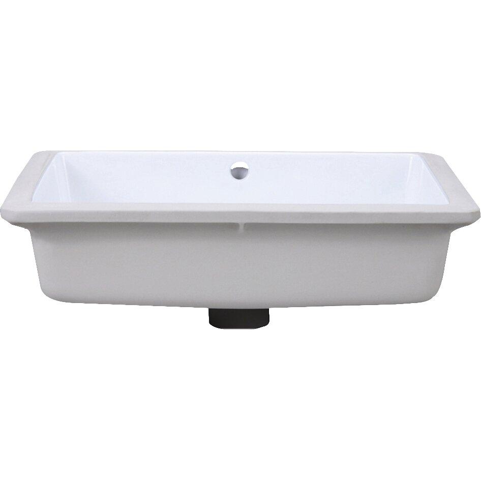 Decolav Classically Redefined Rectangular Undermount Bathroom Sink Reviews Wayfair