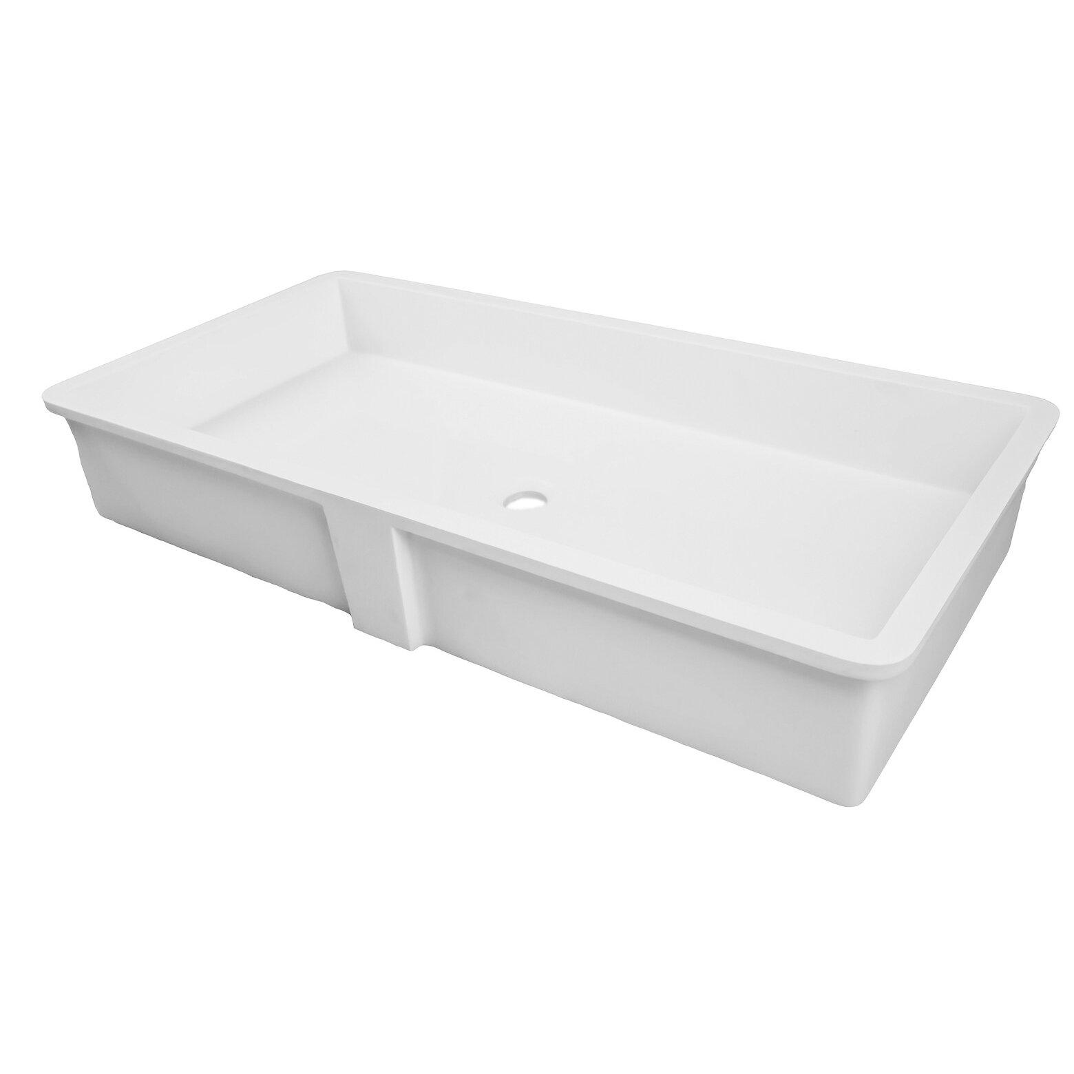 Decolav Solid Surface Rectangular Undermount Lavatory Sink