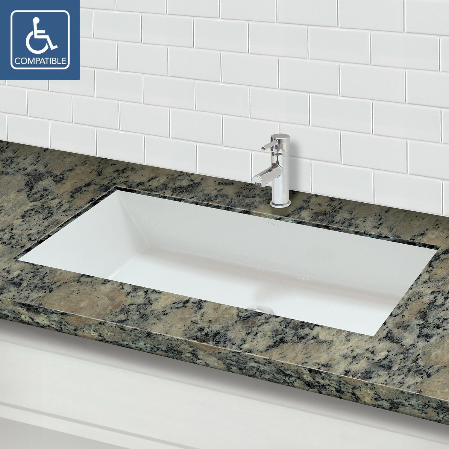 Solid Surface Bathroom Sink: DECOLAV Solid Surface Rectangular Undermount Lavatory Sink
