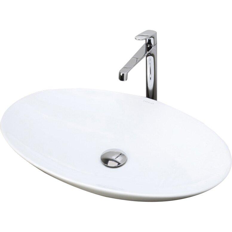 ... Classically Redefined Oval Vessel Bathroom Sink & Reviews Wayfair