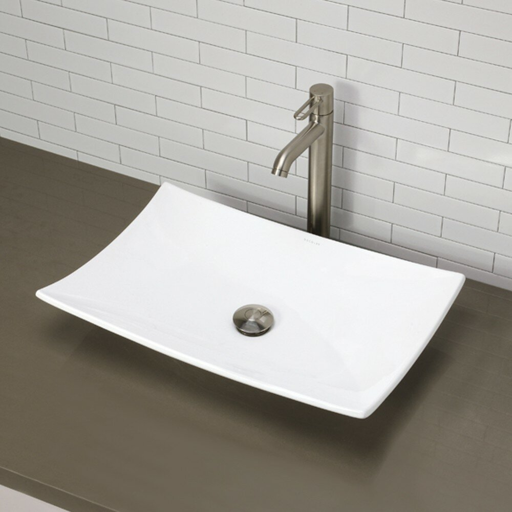 ... Redefined Rectangular Vessel Bathroom Sink & Reviews Wayfair
