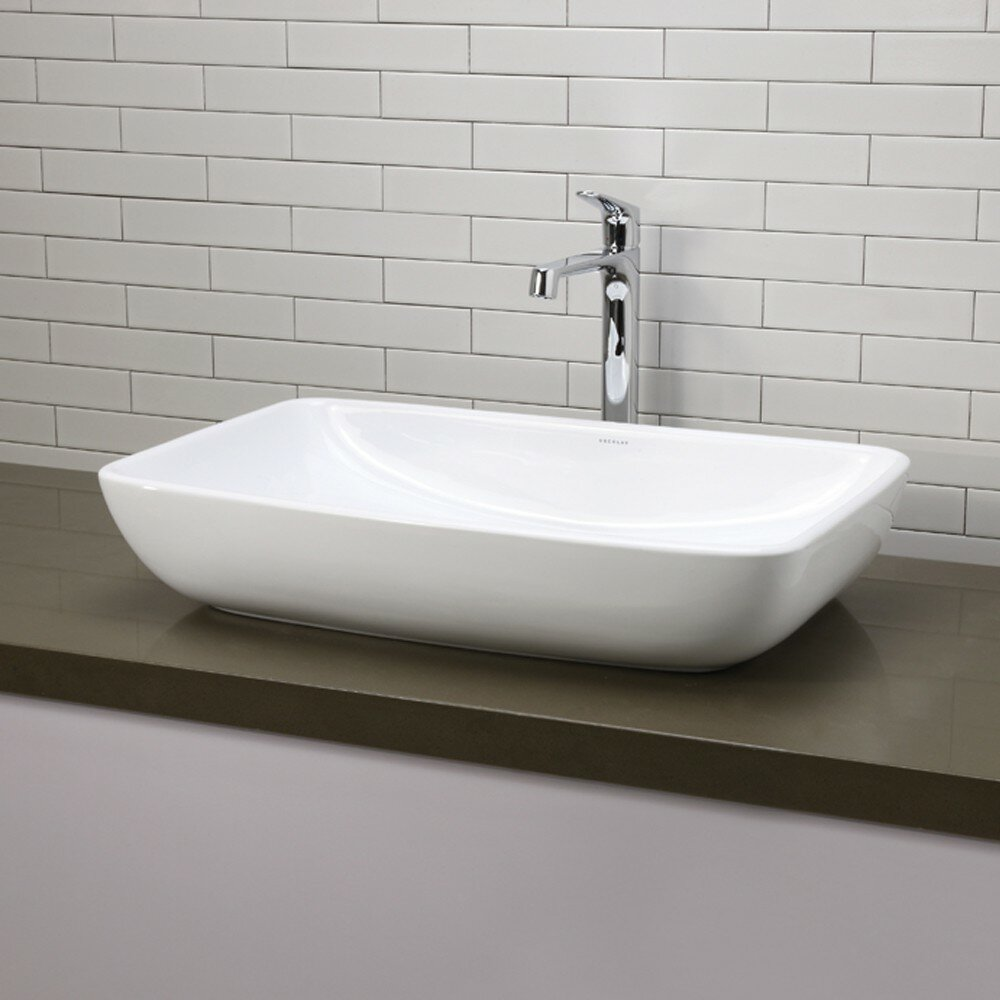 Decolav classically redefined rectangular vessel bathroom - Bathroom vanity with vessel sink sale ...